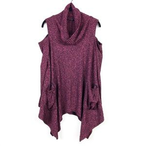 For Cynthia Langenlook Cold Shoulder Sweater Top M